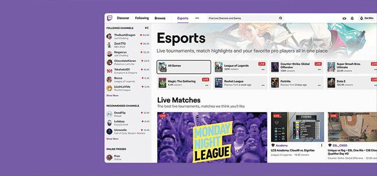 Twitch launch dedicated eSports directory