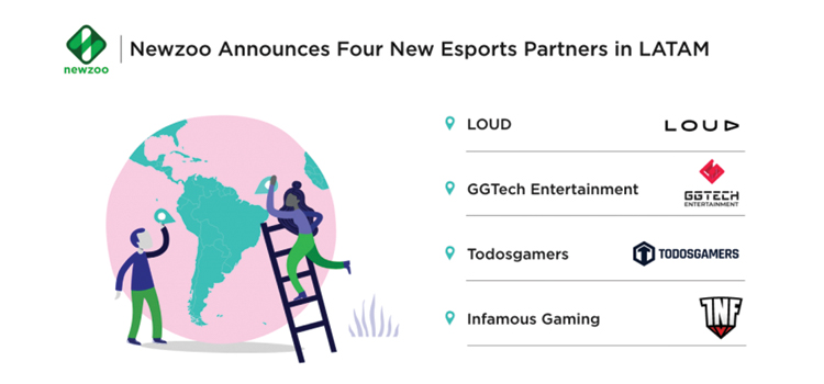 Newzoo announce 4 new Latin American esports partnerships